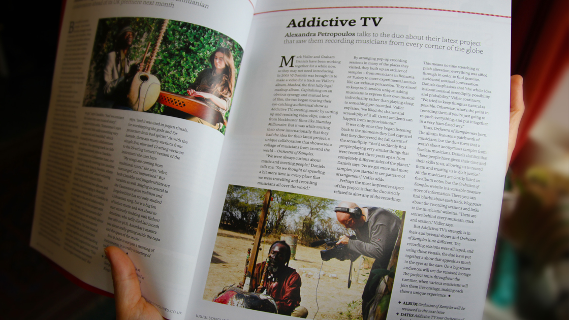 Addictive TV in Songlines 2017