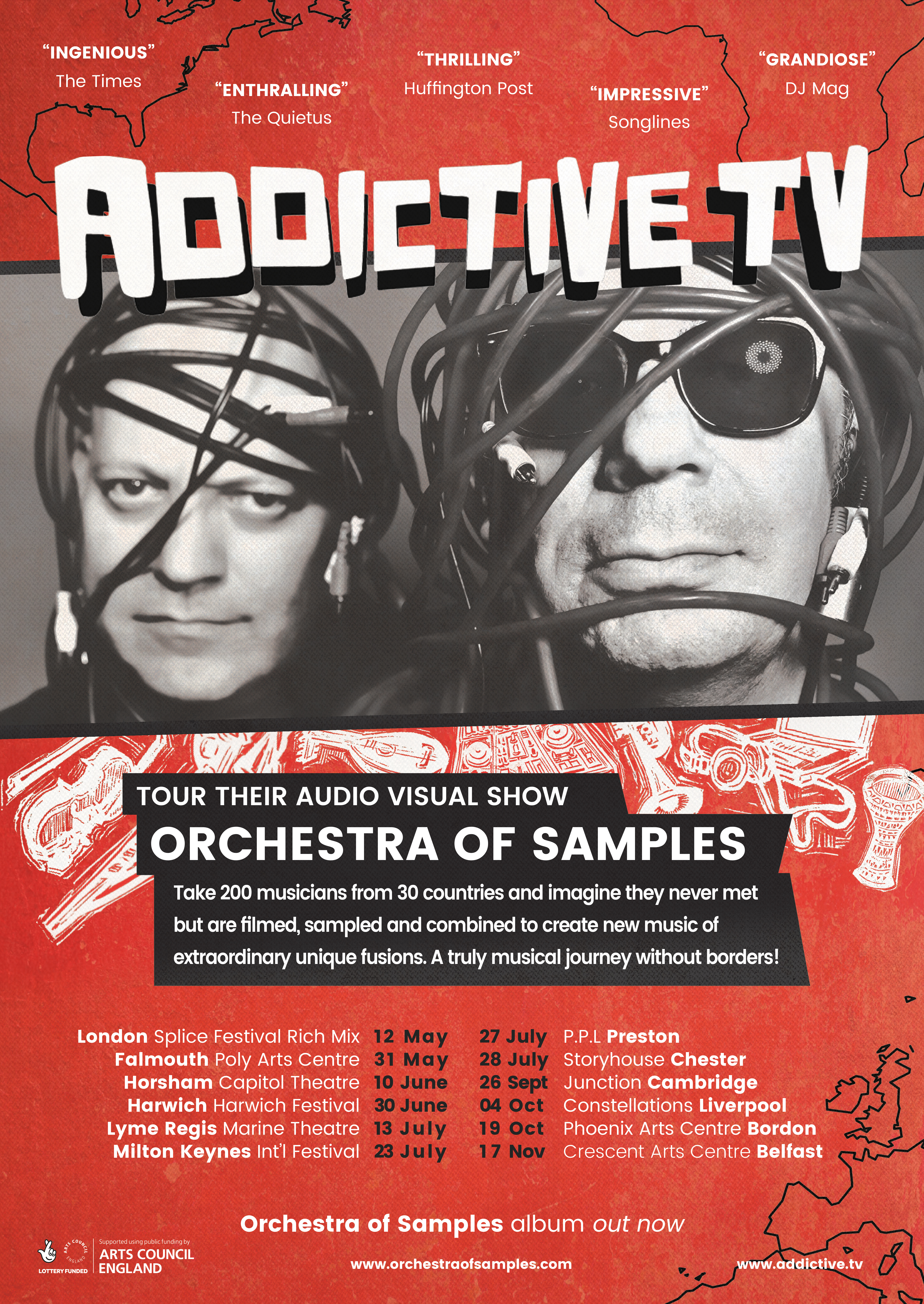# Addictive TV - 2018 tour POSTER